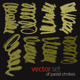 Pastel strokes, vector set 1 Stock Photos
