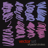 Pastel strokes, vector set 2 Stock Photography