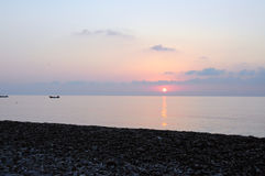 Pastel sunrise on Cirali Beach. royalty free stock photos