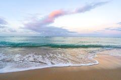 Pastel Sunrise at Waikiki beach royalty free stock photo