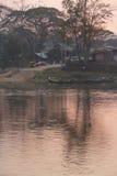 Pastel sunset  Dokthawaddy River Royalty Free Stock Photo