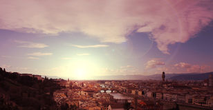 Pastel Sunset in Florence Royalty Free Stock Photo