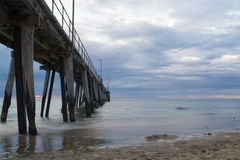 Pastel Sunset from Side of the Port Noarlunga Jetty, SA Royalty Free Stock Image