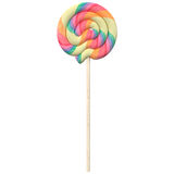 Pastel swirled lollipop isolated on white background,. 3d illustrations Royalty Free Stock Photo