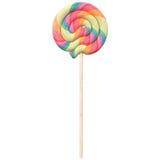 Pastel swirled lollipop isolated on white background, Royalty Free Stock Photo
