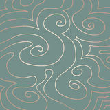 Pastel Swirls Pattern on Duck Egg Blue Stock Photography