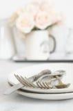 Pastel tableware set Royalty Free Stock Image