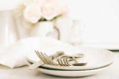 Pastel tableware set Royalty Free Stock Photo