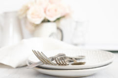 Pastel tableware set Stock Image