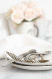 Pastel tableware set Stock Photo