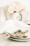 Pastel tableware set Royalty Free Stock Photos