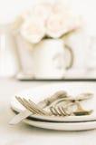 Pastel tableware set Stock Photos