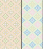 Pastel Thai vintage seamless patterns vector abstract background. With seamless patterns in swatch vector illustration