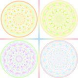 Pastel tone kaleidoscope design Stock Images