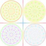 Pastel tone kaleidoscope design Stock Images