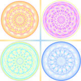 Pastel tone kaleidoscope design Stock Photo
