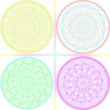 Pastel tone kaleidoscope design Stock Image