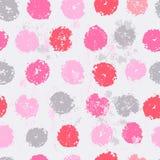 Pastel tones elegant polka dot seamless pattern Stock Images