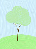 Pastel tree card Stock Image