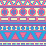 Pastel Tribal Pattern. Tribal pattern print in blue yellow pink purple Royalty Free Stock Images