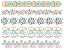 Pastel trims or border Stock Photos