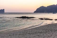 Pastel Tropical dawn Stock Image