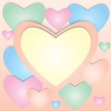 Pastel valentine card. Stock Photos
