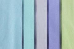 Pastel vertical stripes. Blue,green,lavender,purple, and green vertical pastel stripes of tissue paper Stock Images