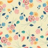 Pastel vintage rose seamless pattern royalty free stock images
