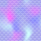 Pastel violet mermaid skin  seamless pattern. Pale iridescent background. Fish scale pattern. Fishscale pattern swatch. Holographic gradient. Mermaid skin Royalty Free Stock Photo