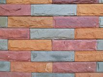 Pastel brick wall background Royalty Free Stock Photo