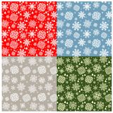 Pastel wallpaper with snowflakes pattern Royalty Free Stock Photography