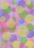 Pastel watercolor abstract background with circles in blue, pink and violet colors. Royalty Free Stock Photo