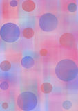 Pastel watercolor abstract background with circles in blue and violet colors. Royalty Free Stock Photography