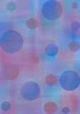 Pastel watercolor abstract background with circles in blue and violet colors. Royalty Free Stock Photos