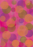 Pastel watercolor abstract background with circles in red and violet colors. Royalty Free Stock Photo