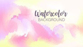 Pastel watercolor backdrop.  Fashion background. Watercolor brush strokes. Creative illustration. Artistic color palette. Vector. Illustration royalty free illustration