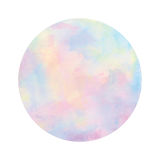 Pastel watercolor circle on white background Royalty Free Stock Image