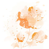 Pastel watercolor flowers Royalty Free Stock Image