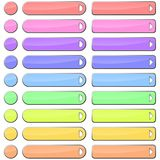 Pastel web buttons Stock Photos