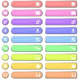 Pastel web buttons and icons Royalty Free Stock Photography