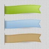 Pastel Web Ribbons Set Stock Images