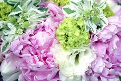 Pastel Wedding Bouquet Stock Photography