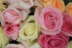 Pastel wedding bouquet Stock Images