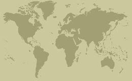 Pastel World Map Royalty Free Stock Images