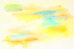 Pastel yellow abstract watercolor Stock Images