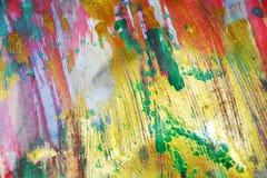 Pastel zielonej fiołkowej złocistej niejasnej akwareli żywy tło, tekstura Obraz Stock