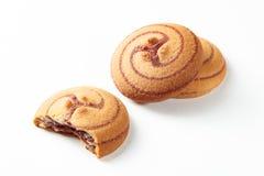 A pastelaria, biscoito, cookies isolou o fundo branco Foto de Stock
