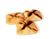Pastelaria com atolamento de cereja Fotografia de Stock Royalty Free