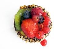 Pastelaria com corinto e frutos Fotografia de Stock
